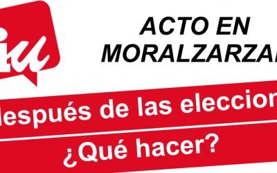 Debate en Moralzarzal. Y después de las elecciones, ¿qué hacer?
