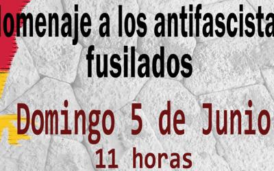Homenaje a los antifascistas fusilados