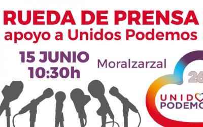 Rueda de prensa en apoyo a Unidos Podemos