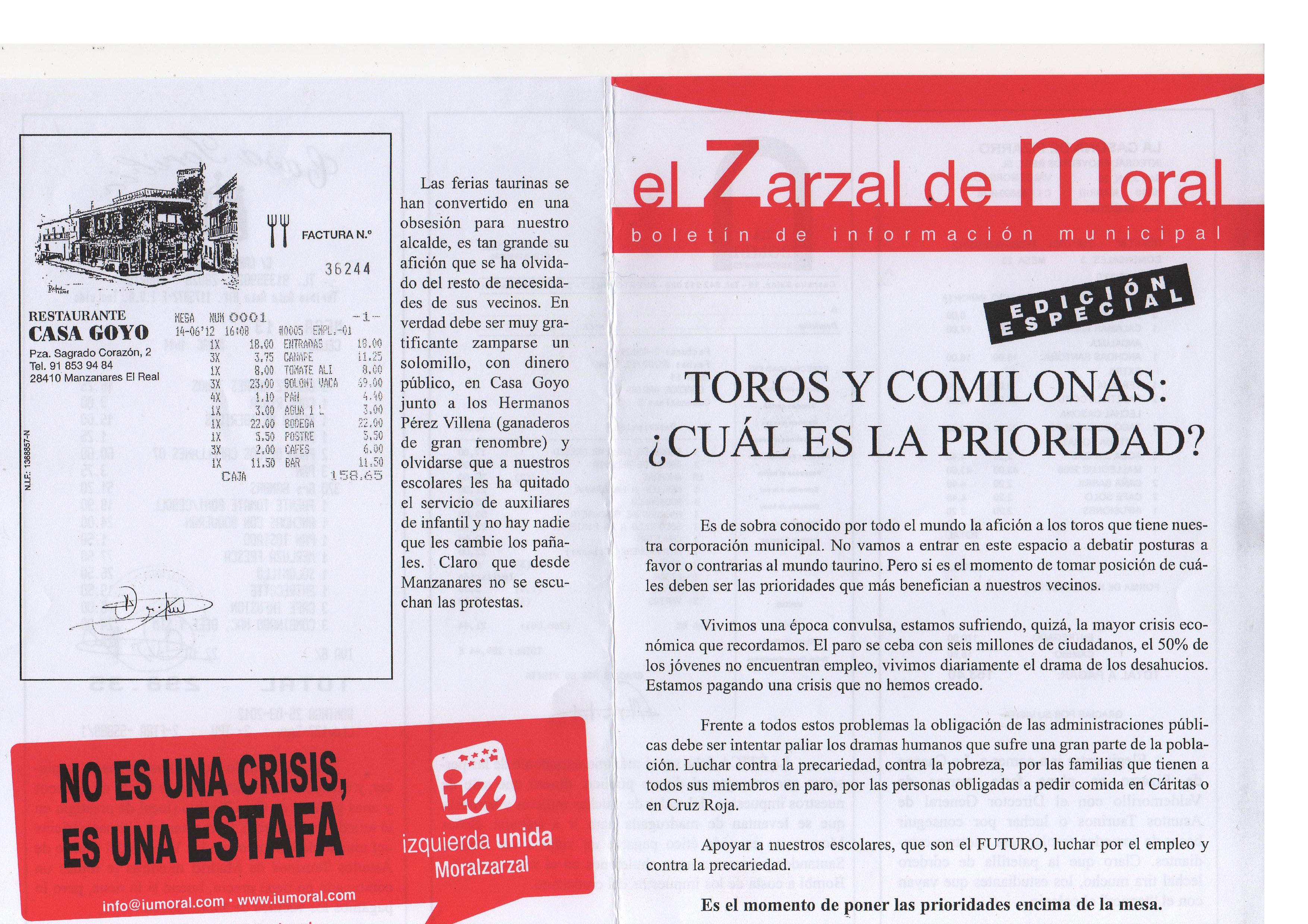Zarzal especial toros y comilonas 2012