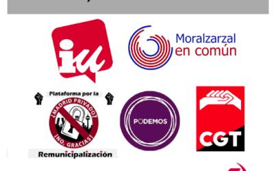 IU Moralzarzal apoya la gestión pública directa de los servicios
