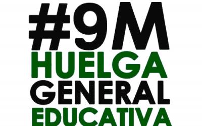 Izquierda Unida apoya la huelga general educativa del 9M