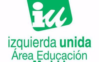 Izquierda Unida de Madrid denuncia y rechaza de plano el anuncio de Ayuso de vulnerar la nueva ley educativa